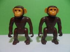 PLAYMOBIL – 2 singes, chimpanzés / chimpanzee / 3015 3053 3240 3255 3940 5276