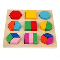 Creative Wooden 3D Block Type Jigsaw Puzzle for Baby Kids Early Educational Toy