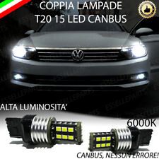 COPPIA LUCI DIURNE DRL 15 LED T20 W21W CANBUS VW PASSAT 3G B8 6000K NO ERRORE