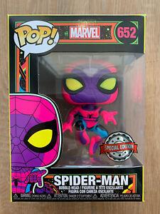 Black Light Spiderman Exclusive - Marvel Funko POP! Vinyl Figure #652