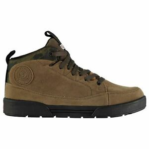 Diem Mens Waterproof Shoes Fishing Boots Lace Up Breathable Suede