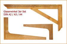 -NEU- Glaserwinkel / Schneidewinkel Kunststoff (DIN A4 / A3 / A2 oder 3er Set)