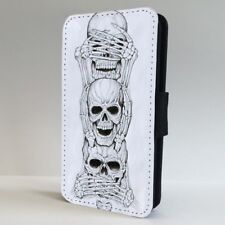 See Hear Speak No Evil Skull FLIP PHONE CASE COVER for IPHONE SAMSUNG
