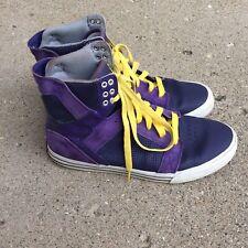 Supra Muska 001 Purple Suede High Top Sneakers Lace Up Mens Size 10  EU 44
