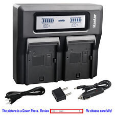 Kastar Battery Dual LCD Fast Charger for Sony NPQM71D Cyber-shot DSC-F828 DSC-R1