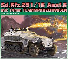 1/35 German Sd.Kfz.251/16 Ausf C mit 14mm Flammpanzerwagen ~ NEW Dragon #6864