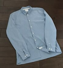 Norse Projects Theo Fine Stripe Shirt - Sky Blue - XL