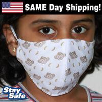 CHILD size MONKEYS Face Mask – INCLUDES 2 FILTERS – 30+ Custom Kids Designs