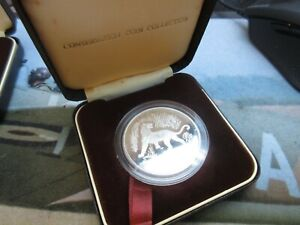 1974 ROYAL MINT INDONESIA CONSERVATION TIGER SILVER 2000 RUPEES COIN IN BOX