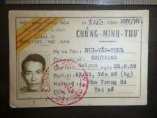 Id Card - Taxi Driver - Saigon - Nguyen Van Mau - 1971 - Vietnam War, 2604
