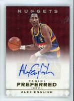 2011 Alex English 25/74 Auto Panini Preferred Autographs