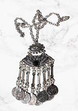 Tibetan coin statement tassel necklace. Boho/hippy/gypsy/vintage/antique