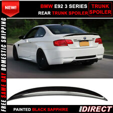 07-13 BMW E92 Coupe P Style Color Code #475 Painted Trunk Spoiler