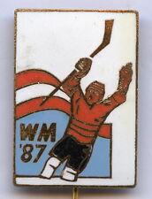 Austria Ice Hockey Official World Championship Wien 1987 Badge Pin Nice Grade !!