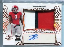 New listing 2021 Leaf Trinity Tyson Campbell PATCH RELIC AUTO AUTOGRAPH RC
