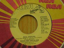 Doug And The Slugs promo 45 Real Enough mono bw stereo on RCA new wave