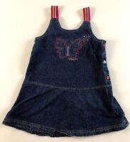 Naartjie Girls S 4 Butterfly Jean Denim Jumper Dress