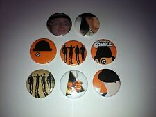 8 A Clockwork Orange button badges Cult Stanley Kubrick Malcolm McDoowell Droogs