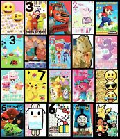 CHILDREN'S FAVORITES CHARACTER BIRTHDAY CARD - Age or Open Cards