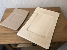 Partylite Pillar Candle Holder/Plates earthtone textured plates retired set of 2