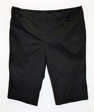 SUZANNE GRAE Brand Black Knee Length Shorts Size 20 BNWT #TF106