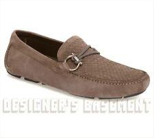 SALVATORE FERRAGAMO dove 11E Braid Bit FRONT 2 driving Moccasin shoes NIB Authen