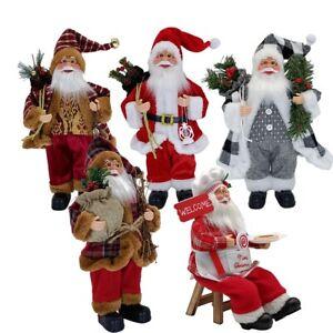 Santa Claus Hanging Ornament Christmas Standing Doll Mini Figure Xmas Decor Gift