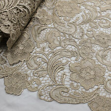 Venice Embroidered French Guipure Lace Fabric by the Yard - Style 5001