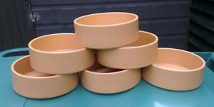 Wholesale lot of 6 terracotta look,  pet bowl, new, by Hatchwell