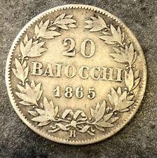 VATICANO 20 Baiocchi 1865 R pius IX