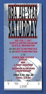 Michael Jordan 1987 1st Slam Dunk Championship Ticket Stub Chicago Bulls - Look!