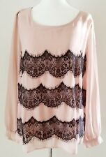 NWT SIMPLY BE PLUS SEMI SHEER LACE NUDE TOP BLOUSE SZ 1X 16
