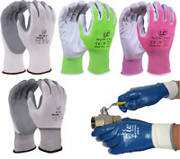 UCI NCN Lightweight Nitrile Coated Work DIY Gardening Assembly Safety Gloves