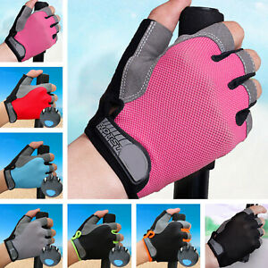 Antiskid Half Finger Gel Pad Short Gloves for Outdoor Sports Cycling MTB Bike