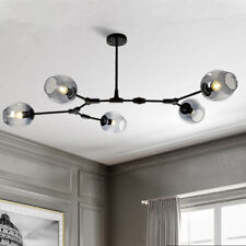 Black Chandelier Lighting Kitchen Pendant Light Glass Lamp Modern Ceiling Lights
