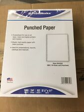 Printworks Professional Office Paper GBC 19-Hole Left-Punched 8 1/2 x 11 24-lb