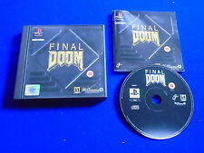 ps1 FINAL DOOM Game PAL BOXED COMPLETE Playstation ps2 ps3