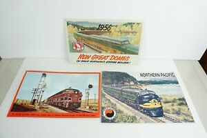 AAA & Desperate Set of 3 Diesel Tin Signs Rock Island Northern Pacific & GN W10