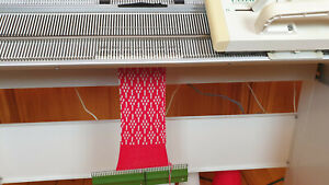 Passap E-6000 Knitting Machine+Stand+4-Color Changer+Electra 3000A Motor ~GREAT!