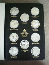 1973 John Pinches RAF Museum History Of Flight 50 Silver Medallions 60 Tr Oz