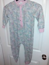 Girls Pastel Print Floral All-in-one Pyjamas Age 7 To 8-years