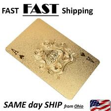POKER cards -- 54 deck of cards -- beautiful GOLD playing cards - AUTHENTIC