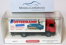"Wiking special edition: 043555 MAN TGL box truck ""Ostermann decoration centres"""
