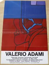 GERMAN EXHIBITION POSTER 1976 - VALERIO ADAMI - OIL PAINTING GOUACHES DRAWINGS