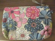 Thirty One 31 Free Spirit Floral Travel Cosmetic Jewelry Zippered Bag