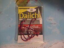 Daiichi 4/0 Copperhead Bleeding Bait Hooks 4 Pack Brand New!!!