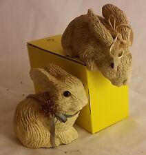 Pair of Baby Bunny Rabbit Figurines