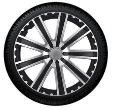 Tapacubos Tapacubos toro13 pulgadas plata Negro Negro Cubierta de la rueda