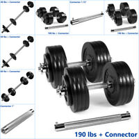 Yes4All Adjustable Dumbbells 40, 50, 60, 100, 190 lbs with Connector
