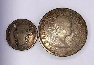 1953 One Dollar & 1901 25 Cents Canada SILVER Coin Lot